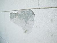 外壁塗膜剥がれ状況