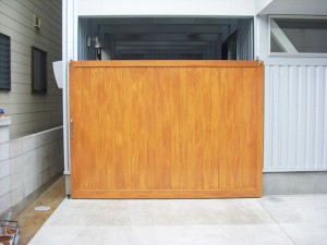 木製扉オスモ塗料塗装