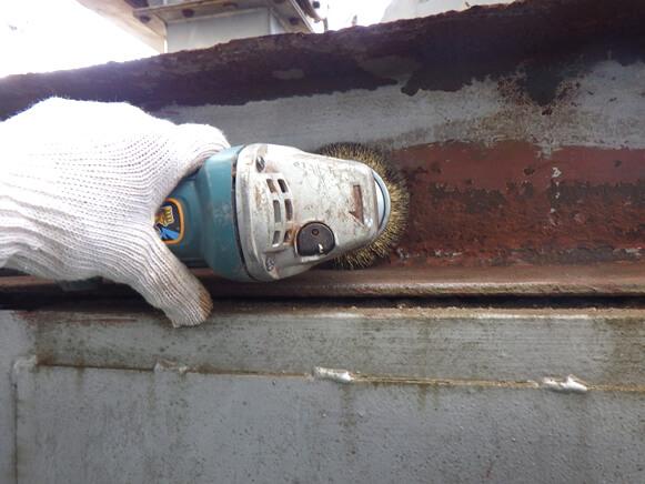 集塵装置防錆塗装改修工事Before